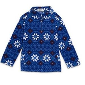 NWT Crown & Ivy Fleece Pullover 3T Blue Snowflakes